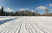 The Bolduc Park Touring trails are looking good on Thursday afternoon following Wednesday's fresh snow.  (Karen Bobotas/for the Laconia Daily Sun)