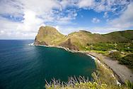Kahakuloa Village, a tight-knit community located on West Maui's rugged North Shore.
