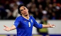 """Luca Toni (Italy)<br /> Zurigo - Zurich 6/2/2008 Stadio """"Letzigrund"""" <br /> Firendly Match<br /> Italia Portogallo / Italy Portugal (3-1)<br /> Foto Andrea Staccioli Insidefoto"""