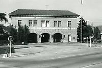 1972 Fire station at Cahuenga Blvd. & DeLongpre Ave.