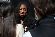 Labour politician MP Dawn Butler in Westminster on the day after Parliament voted to take control of Parliamentary proceedings and prior to a vote on a bill to prevent the UK leaving the EU without a deal at the end of October, on 4th September 2019 in London, England, United Kingdom. Yesterday Prime Minister Boris Johnson faced a showdown after he threatened rebel Conservative MPs who vote against him with deselection, and vowed to aim for a snap general election if MPs succeed in a bid to take control of parliamentary proceedings to allow them to discuss legislation to block a no-deal Brexit.