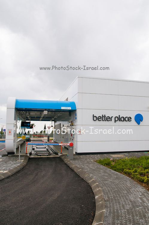 Better Place A venture-backed company working to produce a market-based transportation infrastructure that supports electric vehicles. battery-switching station. Photographed in Katzrin, Israel