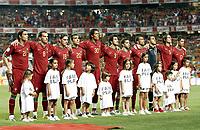 Fotball<br /> 08.09.2007<br /> EM-kvalifisering<br /> Portugal v Polen<br /> Foto: Gepa/Digitalsport<br /> NORWAY ONLY<br /> <br /> Lagbilde Portugal<br /> Nuno Gomes, Petit, Maniche, Deco, Bruno Alves, Marco Caneira, Simao, Bosingwa, Ricardo, Fernando Meira und Cristiano Ronaldo (POR)