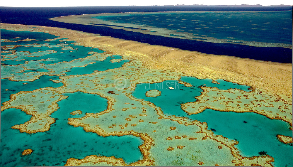 Hardy- and Hook Reef off the Whitsundaays Islands in the central Great Barrier Reef complex, Australia.
