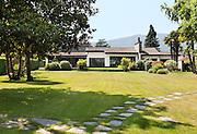 white villa, view from the garden