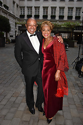 Lord & Lady Boateng at the Nelson Mandela Foundation Gala Dinner, Rosewood, London England. 24 April 2018.