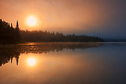 Sunset on Lac-Lajoie. This is a provincial parc, not a true federal park.<br />Parc national du Mont-Tremblant<br />Quebec<br />Canada