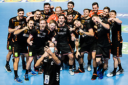 Netherlands national team during Men's EHF EURO 2022 Qualifiers between national teams Slovenia and Netherlands in Arena Zlatorog, Celje, Slovenia on 10. January, 2021. Photo by Grega Valancic