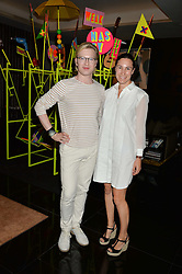 HENRY CONWAY and CRESSIDA POLLOCK at a dinner at The Bulgari Hotel, 171 Knightsbridge to celebrate The London Design Festival on 13th September 2016.