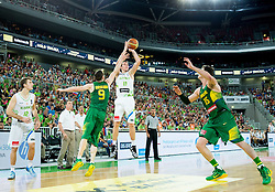 Goran Dragic of Slovenia during friendly basketball match between National Teams of Slovenia and Brasil at Day 2 of Telemach Tournament on August 22, 2014 in Arena Stozice, Ljubljana, Slovenia. Photo by Vid Ponikvar / Sportida