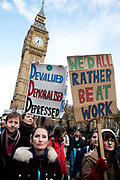 Junior doctors, including accident and emergency, strike throughout the UK against the imposition of new contracts on April 26th 2016 in London, United Kingdom.