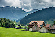 Green pastures under rugged mountains. Appenzell is known for rural customs and traditions such as the ceremonial descent of cattle in autumn, as well as hiking tours in the scenic Alpstein region. Appenzell Innerrhoden is Switzerland's most traditional and smallest-population canton (second smallest by area).