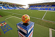 A general view of the Abax Stadium with the match ball in the foreground before the EFL Sky Bet League 1 match between Peterborough United and Walsall at London Road, Peterborough, England on 22 December 2018.