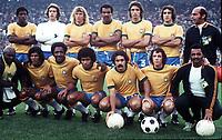 BRAZIL TEAM GROUP<br />WORLD CUP 1974<br />BRAZIL V DDR 06/07/1974<br />PHOTO ROGER PARKER FOTOSPORTS INTERNATIONAL