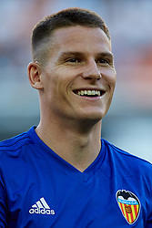 August 20, 2018 - Valencia, Valencia, Spain - Kevin Gameiro of Valencia CF smiles prior to the La Liga match between Valencia CF and Club Atletico de Madrid at Mestalla on August 20, 2018 in Valencia, Spain  (Credit Image: © David Aliaga/NurPhoto via ZUMA Press)