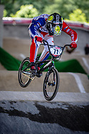 #71 (GODOY BECERRA Hernan Felipe) CHI at Round 5 of the 2019 UCI BMX Supercross World Cup in Saint-Quentin-En-Yvelines, France
