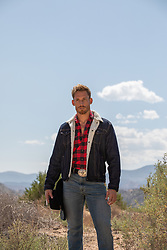 hot cowboy outdoors in nature