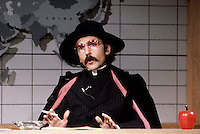 ca. 1977-1979 --- Actor Don Novello plays the character of Father Guido Sarducci in a Saturday Night Live skit. --- Image by © Owen Franken/Corbis