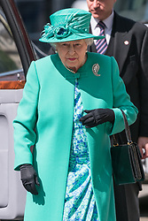 © Licensed to London News Pictures. 24/05/2017. London, UK. HRH QUEEN ELIZABETH II and the DUKE OF EDINBURGH attends service to mark the of the Order of the British Empire at St Paul's Cathedral. Photo credit: Ray Tang/LNP