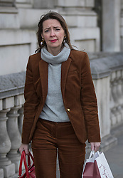 © Licensed to London News Pictures. 03/11/2016. London, UK. Downing Street joint chief of staff Fiona Hill walks along Whitehall. Earlier a High Court ruling said that the government must consult MPs before triggering Article 50. Photo credit: Peter Macdiarmid/LNP