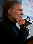 Nebraska born former talk-show host Dick Cavett speaks at the Omaha Press Club.