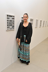 LEYLA ALIYEVA daughter of the President of Azerbaijan at a private view of Refraction. The Image of Sense held at Blain Southern, Hanover Square, London on 9th December 2014.