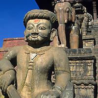 Asia, Nepal, Bhaktapur. Nyatapola Temple in Bhaktapur.