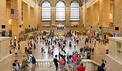 THEMENBILD - Grand Central Terminal ist ein Bahnhof fuer Pendlerzuege und die Schnellbahn in Midtown Manhattan, im Bild eine Innenansicht, Aufgenommen am 08. August 2016 // Grand Central Terminal is a commuter, rapid transit railroad terminal at 42nd Street and Park Avenue in Midtown Manhattan. The picture shows the interior, New York City, United States on 2016/08/08. EXPA Pictures © 2016, PhotoCredit: EXPA/ Sebastian Pucher