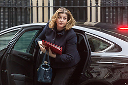 London - Secretary of State for International Development Penny Mordaunt attends the weekly meting of the UK cabinet at Downing Street. January 23 2018.