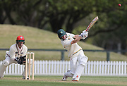 Bayley Wiggins of CD bats. Canterbury vs. Central Districts Day 1, 1st round of the 2021-2022 Plunket Shield cricket competition at Hagley Oval, Christchurch, on Saturday 23rd October 2021.<br /> © Copyright Photo: Martin Hunter/ www.photosport.nz