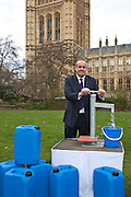 David Hanson  MP. Marking World Water Day, over 40 MP's walked for water at Westminster, London at an event organised by WaterAid and Tearfund. Globally hundreds of thousands of people took part in the campaign to raise awareness of the world water crisis.