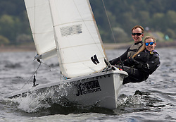 Largs Regatta Week 2017 <br /> <br /> Day 2,  1393, RS 200, Andrew Grieve, Chloe Rankin<br /> <br /> Picture Marc Turner
