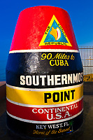 Southernmost Point Marker, Key West, Florida Keys, Florida USA