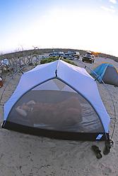 J. Nichols In Tent At Bandaritas Camp
