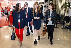 © Licensed to London News Pictures. 29/09/2021. Brighton, UK. PREET KAUR GILL , ANGELA RAYNER and LUCY POWELL arrive to watch the Leader's speech . The final day of the 2021 Labour Party Conference , which is taking place at the Brighton Centre . Photo credit: Joel Goodman/LNP