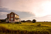 The Barden house, a historic home, sits in a large field in Cape Lookout, North Carolina
