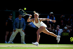 03.07.2014, All England Lawn Tennis Club, London, ENG, WTA Tour, Wimbledon, Tag 10, im Bild Eugenie Bouchard (CAN) during the Ladies' Singles Semi-Final match on day ten // during day 10 of the Wimbledon Championships at the All England Lawn Tennis Club in London, Great Britain on 2014/07/03. EXPA Pictures © 2014, PhotoCredit: EXPA/ Propagandaphoto/ David Rawcliffe<br /> <br /> *****ATTENTION - OUT of ENG, GBR*****
