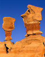 Sandstone formations at Devils Garden, Grand Staircase Escalante National Monument Utah USA
