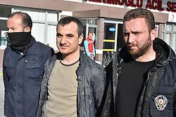 April 26, 2017 - Konya, Türkiye - Members of the Turkish police escort suspects of the Gulen movement during nationwide operations, in Konya city, Turkey, 26 April 2017. (Credit Image: © Depo Photos via ZUMA Wire)