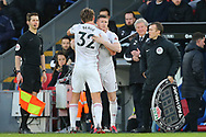 Sheffield United's Sander Berge is substituted for Sheffield United's John Lundstram during the Premier League match at Selhurst Park, London. Picture date: 1st February 2020. Picture credit should read: Paul Terry/Sportimage