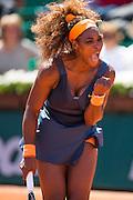 Paris, France. Roland Garros. June 4th 2013.<br /> American player Serena WILLIAMS against Svetlana KUZNETSOVA