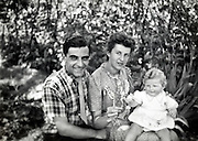 happy family moment with toddler France 1950s 1960s