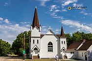 Historic Standing Rock Lutheran Church in Fort Ransom, North Dakota, USA