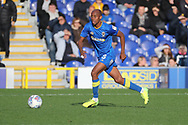 AFC Wimbledon midfielder Jimmy Abdou (8) dribbling during the EFL Sky Bet League 1 match between AFC Wimbledon and Plymouth Argyle at the Cherry Red Records Stadium, Kingston, England on 21 October 2017. Photo by Matthew Redman.