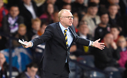 Scotland Manager Alex McLeish gives instructions on the touchline during the International Friendly at Hampden Park, Glasgow. PRESS ASSOCIATION Photo. Picture date: Friday September 7, 2018. See PA story SOCCER Scotland. Photo credit should read: Ian Rutherford/PA Wire. RESTRICTIONS: Use subject to restrictions. Editorial use only. Commercial use only with prior written consent of the Scottish FA.