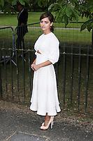Jenna Coleman, The Serpentine Gallery Summer Party, Serpentine Gallery, London UK,  06 July 2016, Photo by Richard Goldschmidt