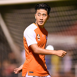 BRISBANE, AUSTRALIA - FEBRUARY 10: Nathan Yoon of the Roar looks on during the NPL Queensland Senior Mens Round 2 match between Gold Coast United and Brisbane Roar Youth at Station Reserve on February 10, 2018 in Brisbane, Australia. (Photo by Football Click / Patrick Kearney)