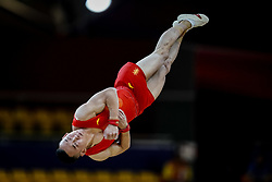 October 29, 2018 - Doha, Qatar - Ruoteng Xiao of China   during  Floor, Team final for Men at the Aspire Dome in Doha, Qatar, Artistic FIG Gymnastics World Championships on October 29, 2018. (Credit Image: © Ulrik Pedersen/NurPhoto via ZUMA Press)