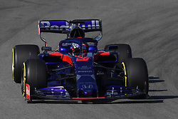 February 18, 2019 - Barcelona, Spain - The Russian driver Daniil Kvyat, of Red Bull Toro Rosso Honda, testing the new car for F1 2019 Championship, during the first day of Formula One Test at Catalonia Circuit, on February 18, 2019 in Barcelona, Spain. (Credit Image: © Joan Cros/NurPhoto via ZUMA Press)