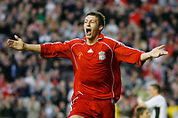 Fotball<br /> England<br /> Foto: Propaganda/Digitalsport<br /> NORWAY ONLY<br /> <br /> Liverpool, England - Monday, April 16, 2007: Liverpool's Craig Lindfield celebrates scoring his sides first goal during the FA Youth Cup Final 1st Leg at Anfield.